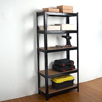 Heavy Duty Steel & MDF 5 Tier Racking Shelf en negro