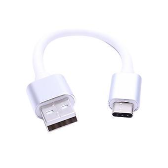 Court 10cm Usb 3.1 Type C Mâle à 2.0 Type A Câble de charge de données (blanc)