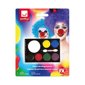 Face Paint Palette Clown Make Up Fancy Dress