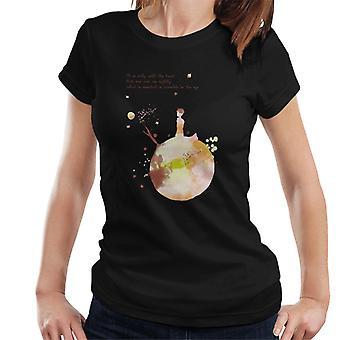 Den lille prins efterårsfarver hjerte citat kvinder & apos;s T-shirt