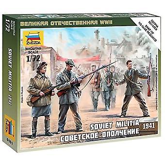 Zvezda Z6181 Soviet Militia Figures Scale 1:72 Model Kit