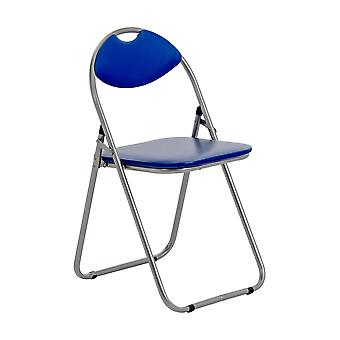 Blue Padded Folding Desk Chair - Home Office, Events