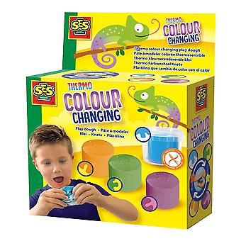 SES Creative Children's Thermo Colour Changing Play Dough Set 4 (469)