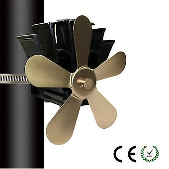 Opgrader Multi Blade Pejs Heat Powered Stove Fan, Log Wood Burner