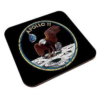 NASA Apollo 11 Mission Badge ahdistunut lasinalus