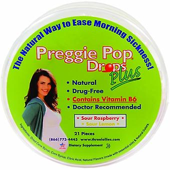 Three Lollies Preggie Pop Drops Plus With Vitamin B6, 21 CT