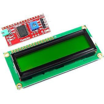 16x2 Green LCD with Funduino I2C Interface