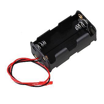 AA 1.5V Battery Box 4 Slot Holder Case Black Metal Plastic N10005 fit RC Car