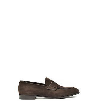 Prada Ezbc021049 Men's Brown Suede Loafers