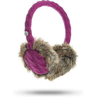 KitSound Audio On-Ear Earmuffs with Built In Headphones Cable Knit