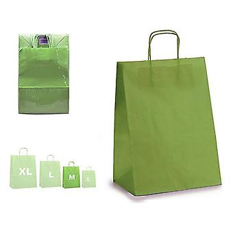 Pungă de hârtie verde (12 x 39 x 24 cm)