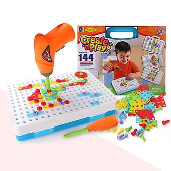 Children Screwing Blocks, Educational Drill Toy, Construction  Building Puzzles