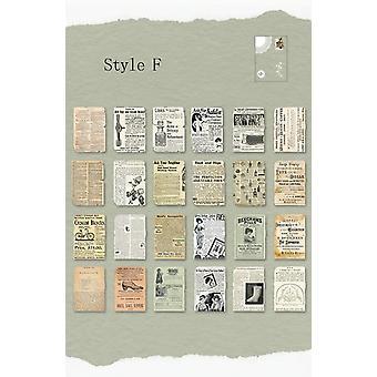 Adesivos vintage medievais/pôster Scrap Handmade, Dry Craft Diy Journal Travel