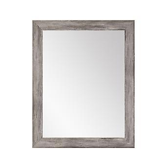 Weathered Barnwood Framed Vanity Wall Mirror 32.5''X 36.5''