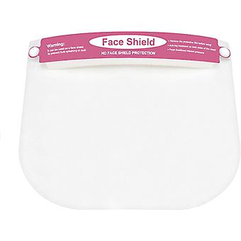 (Pack of 1) Pink Kids Full Face Protective Shield Visor Plastic Adjustable Transparent Face Visor Resistant to Prevent Saliva