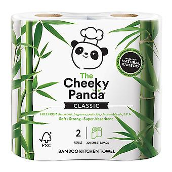 Cheeky Panda Kitchen Towel Bamboo 2ply 200 sheets x5