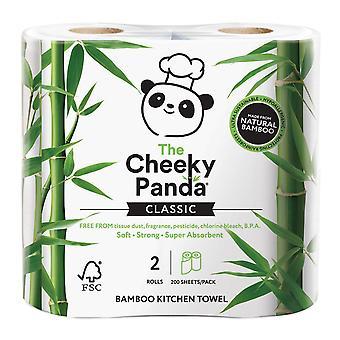 Sfacciato Panda Cucina Asciugamano Bambù 2ply 200 fogli x5