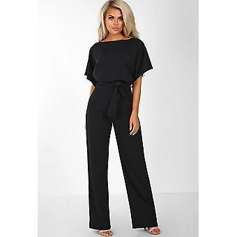 Damen Overalls Jumpsuits Streetwear Plus Size Strampler Lace-up Short Sleeve