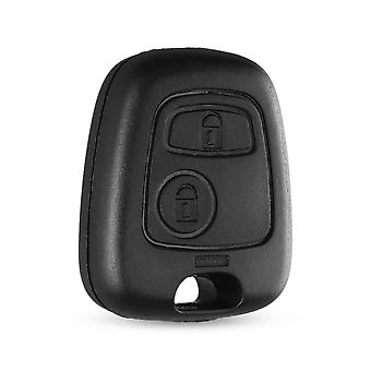 Dandkey Auto Car 2 Button Peugeot Remote Control Key Fob Case Shell,