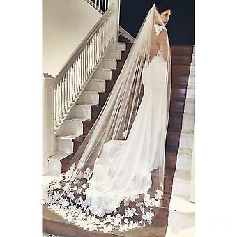 Stock Long Bridal Appliques Wedding Lace