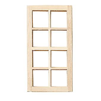 Dolls House Builders Diy Spare Parts 1:12 Scale 8 Lite Standard Wooden Window
