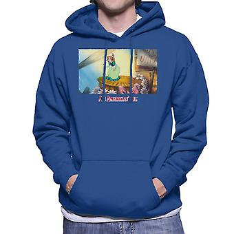 An American Tail Bridget Holding Pink Umbrella Men's Hooded Sweatshirt