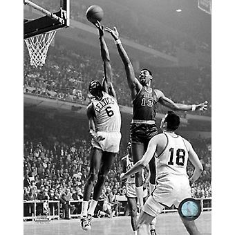 Impressão de fotos de ação de Bill Russell 1965
