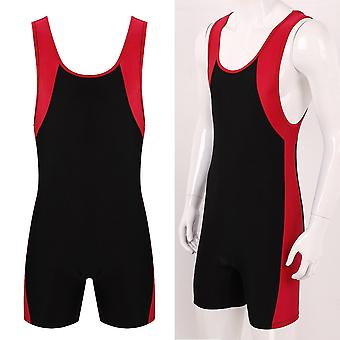 Mens Bodysuits Undershirts Sports Gym Bodybuilding Jumpsuits