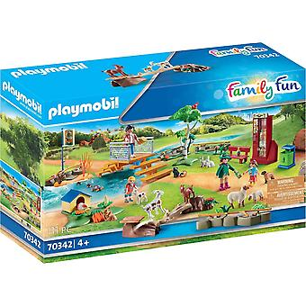 Playmobil Family Fun Petting Zoo Playset