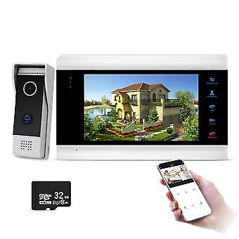 7inch monitor video intercoms hjem sikkerhetssystem video dørklokke dør telefon