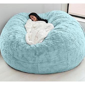 Fur Soft Bean Bag Sofá Capa Sala de Estar Móveis Lazer Gigante Grande Rodada