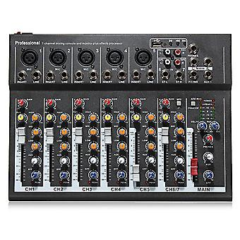 EL MPortable 7 Channel Professional Live Studio Audio Mixer USB Mixing Console KTV DJ Karaoke