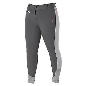 Firefoot Rawdon Ladies Contrast Breeches - Charcoal/red