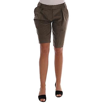 Ermanno Scervino Brown Velvet Bermuda Shorts