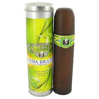 Cuba Brazilië Eau De Toilette Spray door Fragluxe 3.4 oz Eau De Toilette Spray