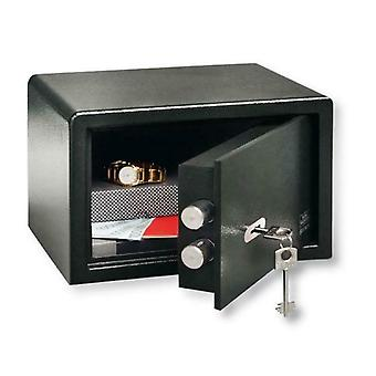 Burg-Wächter Small Key Locking Safe - Metal Black Dual Lock - PointSafe P1S