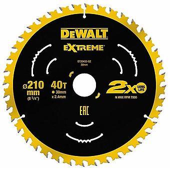 DeWALT DT20433-QZ Extreme 210 x 30mm 40T TCT Saw Blade
