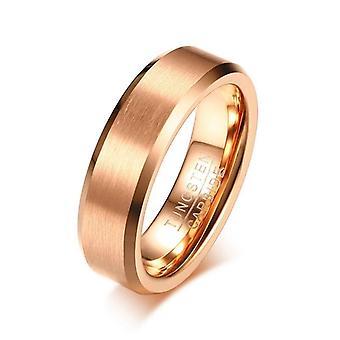 Bague de mariage de tungstène d'or rose pour des femmes