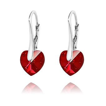 Silver heart earrings siam