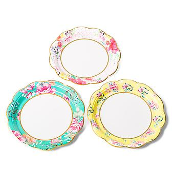 Vintage Floral Assorted Tea Time Paper Plates x 12 Afternoon Tea Party