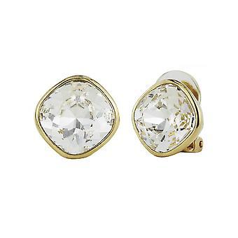 Traveller Clip Earrings - Gold plated Swarovski Crystal  - 155588