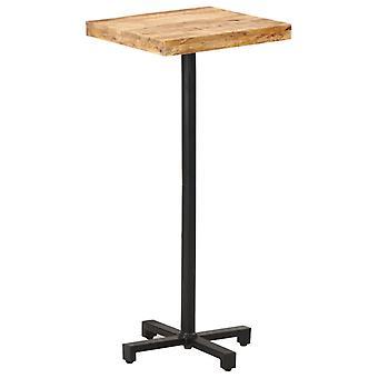 Bar Table Square 50x50x110 Cm Rough Mango Wood