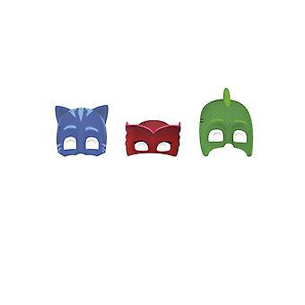 6 Pyjamasques kartonnen maskers