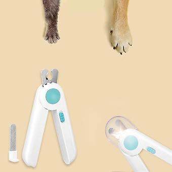 Led Pets Nail Clippers With Free Nail File Non-slip Sharp Pet Grooming