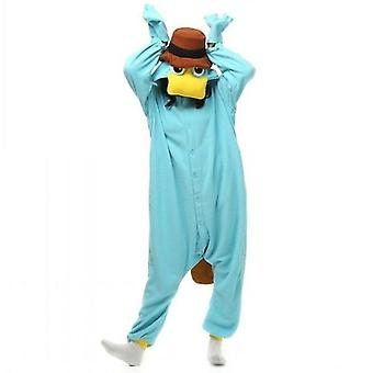 Unisex Perry Platypus Costume Onesies Cosplay Adult Sleepwear