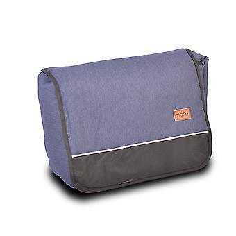 Moni wrap bag denim compartimiento principal, compartimiento interior ajustable correa de hombro