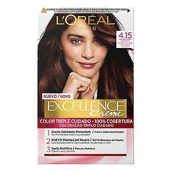 Permanent Dye Excellence L'Oréal Paris 4.15 Dark Brown