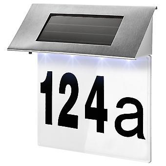 tectake Husnummer med solcellelampe