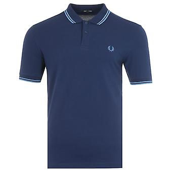 Fred Perry M3600 Twin Tipped Polo Shirt - French Navy