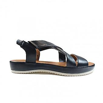Ara Dubai 15183-09 Blue Leather Womens Sling Back Sandals